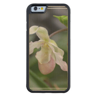 Dainty Orchids Carved® Maple iPhone 6 Bumper Case