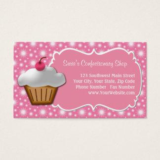 Dainty Pink Cupcake Business Card