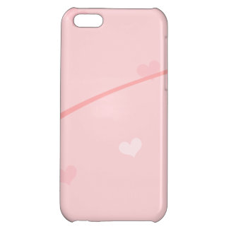 Dainty Pink Heart Background iPhone 5C Cases