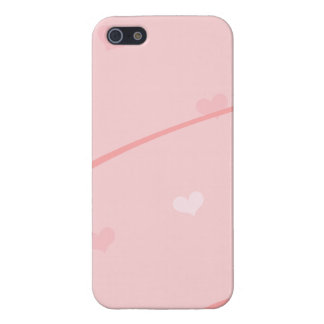 Dainty Pink Heart Background Covers For iPhone 5