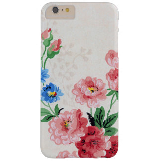 Dainty Vintage Floral Pink Flowers Barely There iPhone 6 Plus Case