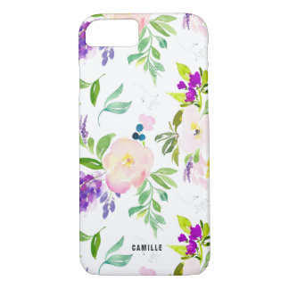Dainty Watercolor Flowers | Peonies and Wisterias iPhone 8/7 Case