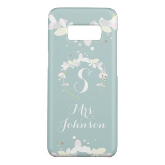 Dainty Wreath with Custom Name - Pick Your Colour! Case-Mate Samsung Galaxy S8 Case