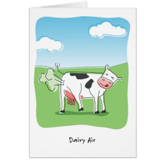 Dairy Air Cow Fart Funny Birthday Greeting Card