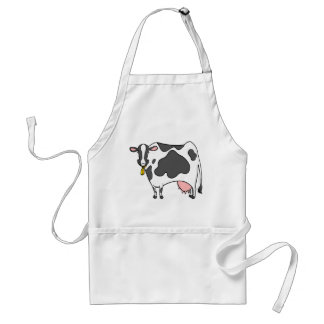 Dairy Cow Cartoon Standard Apron