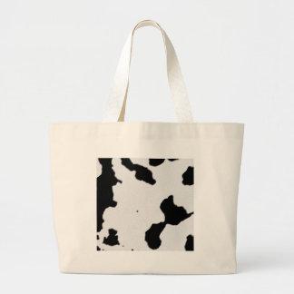 Dairy Cow Skin Large Tote Bag