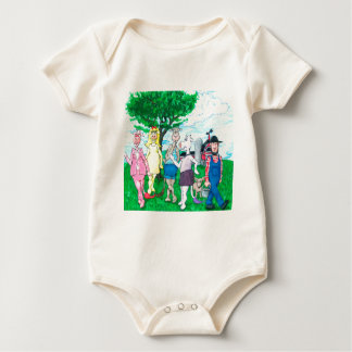 Dairy Cows Wearing Street Clothes Baby Bodysuit