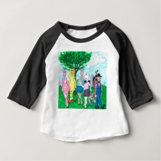 Dairy Cows Wearing Street Clothes Baby T-Shirt