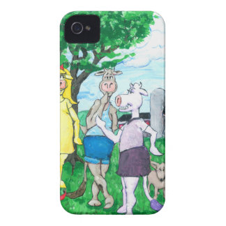 Dairy Cows Wearing Street Clothes iPhone 4 Cover