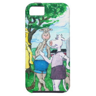 Dairy Cows Wearing Street Clothes iPhone 5 Case