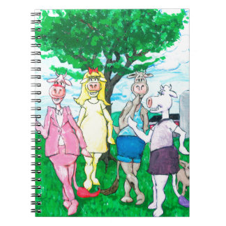 Dairy Cows Wearing Street Clothes Notebook