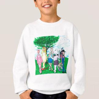 Dairy Cows Wearing Street Clothes Sweatshirt