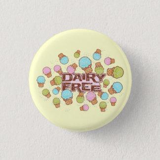 Dairy Cream Ice Cream 1 Inch Round Button
