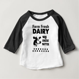 Dairy farm fresh, milk cheese butter baby T-Shirt