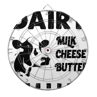 Dairy farm fresh, milk cheese butter dartboard