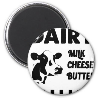 Dairy farm fresh, milk cheese butter magnet