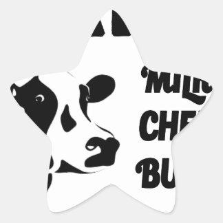 Dairy farm fresh, milk cheese butter star sticker