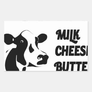Dairy farm fresh, milk cheese butter sticker