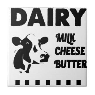 Dairy farm fresh, milk cheese butter tile