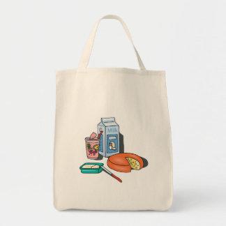 dairy foods tote bag