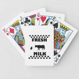 Dairy fresh cow milk bicycle playing cards