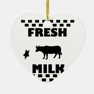 Dairy fresh cow milk ceramic ornament