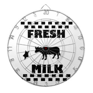Dairy fresh cow milk dartboard