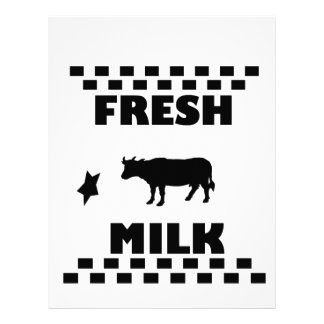 Dairy fresh cow milk letterhead