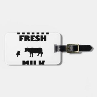 Dairy fresh cow milk luggage tag