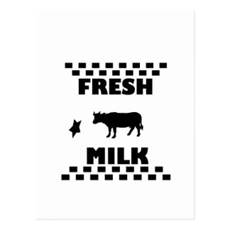 Dairy fresh cow milk postcard