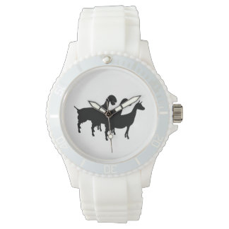 Dairy Goat Silhouette Watch
