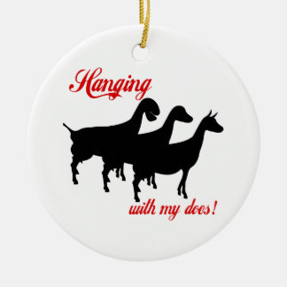 Dairy Goats Ceramic Ornament