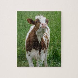 Dairy Milk Cow on the Farm Jigsaw Puzzle