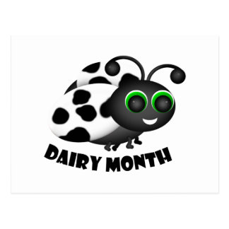 Dairy Month Ladybug Postcard