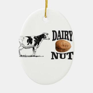 dairy nut ceramic ornament