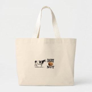 dairy nut large tote bag