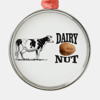 dairy nut metal ornament