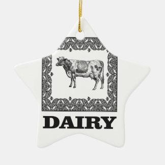 Dairy prize ceramic ornament