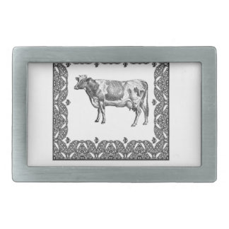 Dairy prize rectangular belt buckle