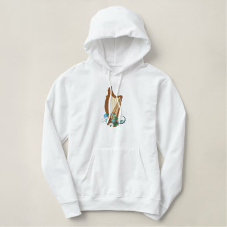 Daisey Harp Embroidered Hoodie