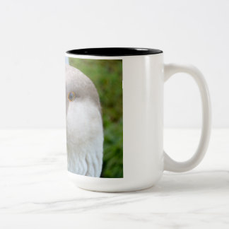 Daisi the house goose Two-Tone coffee mug