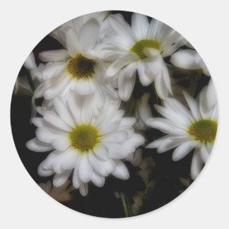 Daisies 1 round sticker