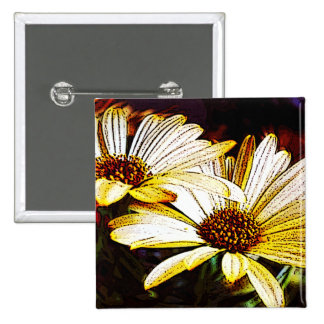 Daisies 2 Inch Square Button