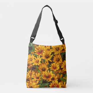 """DAISIES"" ALL-OVER PRINT CROSS BODY BAG"