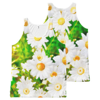 Daisies All-Over-Print Tank Top