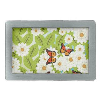 Daisies and butterflies belt buckles