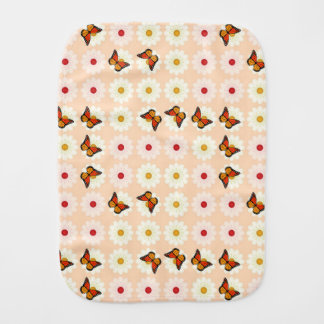 Daisies and butterflies burp cloth
