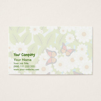 Daisies and butterflies business card