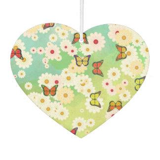 Daisies and butterflies car air freshener
