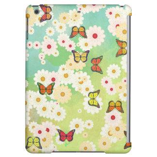 Daisies and butterflies iPad air cases